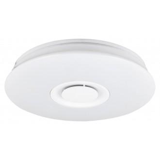 RABALUX 4541 | Murry Rabalux stropné svietidlo kruhový diaľkový ovládač reproduktor, regulovateľná intenzita svetla, meniace farbu, nastaviteľná farebná teplota 1x LED 1440lm + 1x LED 3000 <-> 6000K biela