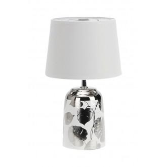 RABALUX 4548 | Sonal Rabalux stolové svietidlo 30cm prepínač na vedení 1x E14 strieborný, biela