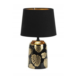 RABALUX 4549 | Sonal Rabalux stolové svietidlo 30cm prepínač na vedení 1x E14 zlatý, čierna