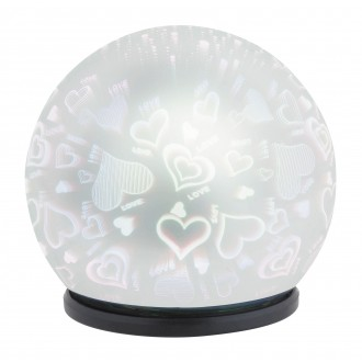 RABALUX 4551 | LailaR Rabalux dekor svietidlo 1x LED 50lm 6500K čierna, chróm, 3D effect