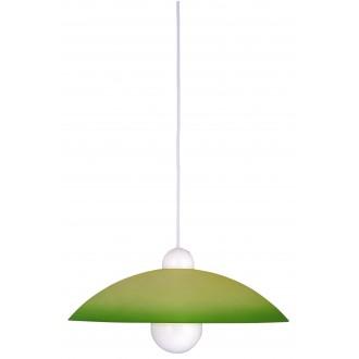 RABALUX 4756 | Tenor Rabalux visiace svietidlo 1x E27 zelená, biela