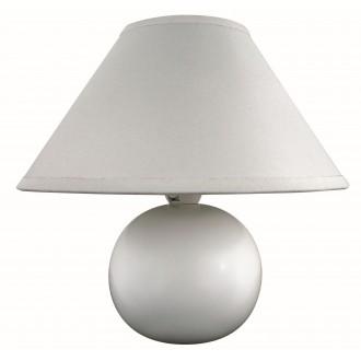 RABALUX 4901 | Ariel Rabalux stolové svietidlo 19cm prepínač na vedení 1x E14 biela