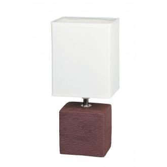 RABALUX 4928 | OrlandoR Rabalux stolové svietidlo 30cm prepínač na vedení 1x E14 wenge, natur