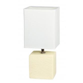 RABALUX 4929 | OrlandoR Rabalux stolové svietidlo 30cm prepínač na vedení 1x E14 krémové, natur