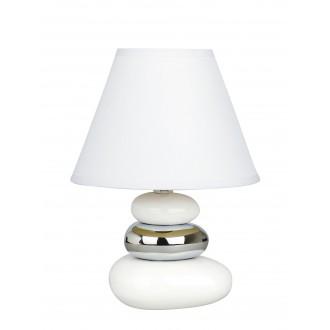 RABALUX 4949 | Salem Rabalux stolové svietidlo 25cm prepínač na vedení 1x E14 biela, strieborný