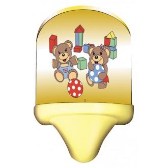 RABALUX 4960 | Sweet_Bear Rabalux stenové svietidlo prepínač na vedení 1x E14 viacferebné, žltá