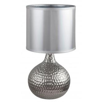 RABALUX 4978 | Rozin Rabalux stolové svietidlo 36,5cm prepínač na vedení 1x E14 chróm, strieborný