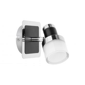 RABALUX 5021 | Harold Rabalux spot svietidlo otočné prvky 1x LED 400lm 4000K IP44 chróm, čierna, opál