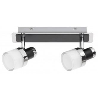 RABALUX 5022 | Harold Rabalux spot svietidlo otočné prvky 1x LED 800lm 4000K IP44 chróm, čierna, opál