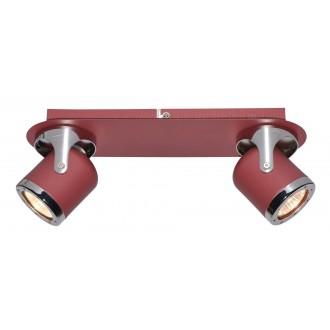RABALUX 5038 | April-RA Rabalux spot svietidlo otočné prvky 2x GU10 červená, chróm