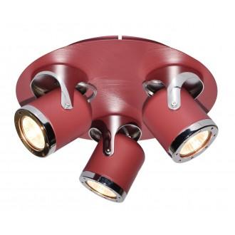 RABALUX 5039 | April-RA Rabalux spot svietidlo otočné prvky 3x GU10 červená, chróm
