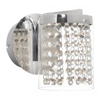 RABALUX 5041   Astrella Rabalux rameno stenové svietidlo 1x LED 450lm 4000K chróm, priesvitné, krištáľ