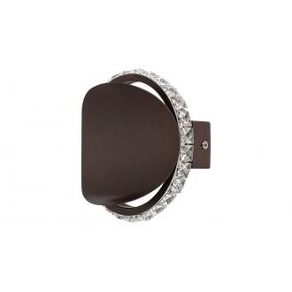 RABALUX 5049   Capriana Rabalux rameno stenové svietidlo 1x LED 480lm 4000K metalovo hnedá, krištáľ