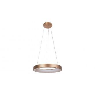 RABALUX 5055 | Carmella Rabalux visiace svietidlo kruhový 1x LED 6335lm 4000K zlatý, biela