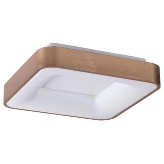 RABALUX 5057 | Carmella Rabalux stropné svietidlo štvoruholník 1x LED 3889lm 4000K zlatý, biela