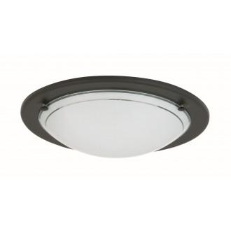 RABALUX 5103 | Ufo3 Rabalux stenové, stropné svietidlo 1x E27 čierna, opál