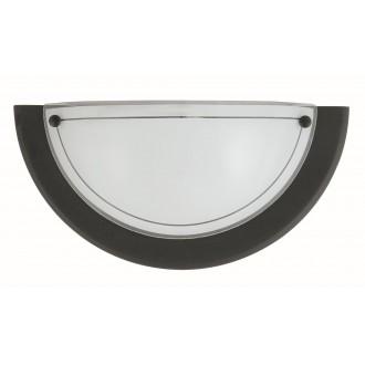RABALUX 5163 | Ufo3 Rabalux stenové svietidlo 1x E27 čierna, opál