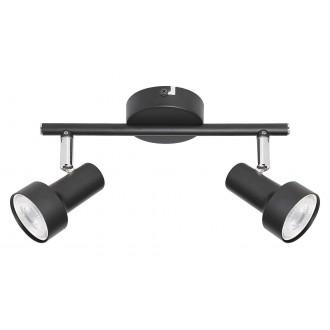 RABALUX 5323 | Konrad Rabalux spot svietidlo otočné prvky 2x GU10 čierna, chróm