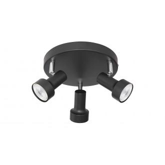 RABALUX 5324   Konrad Rabalux spot svietidlo otočné prvky 3x GU10 čierna, chróm