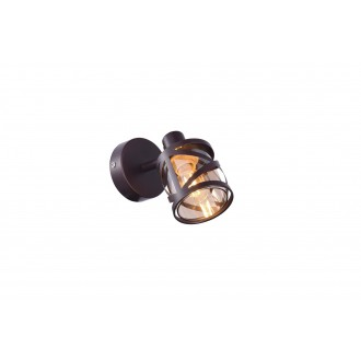 RABALUX 5335 | Oberon-RA Rabalux spot svietidlo otočné prvky 1x E14 kávová, jantárové