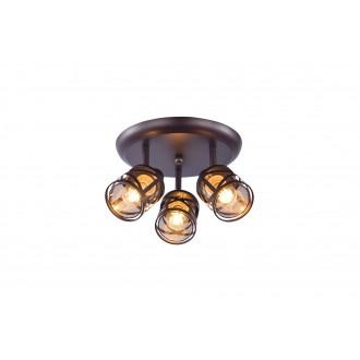 RABALUX 5337 | Oberon-RA Rabalux spot svietidlo otočné prvky 3x E14 kávová, jantárové