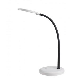 RABALUX 5429 | Timothy Rabalux stolové svietidlo 58cm dotykový prepínač s reguláciou svetla flexibilné, regulovateľná intenzita svetla 1x LED 440lm 4000K biela, čierna