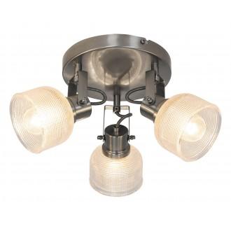 RABALUX 5439 | Francis-RA Rabalux spot svietidlo otočné prvky 3x E14 satén chróm, priesvitné