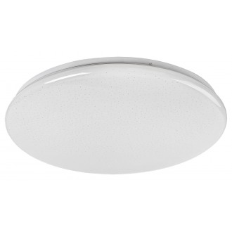 RABALUX 5445 | Danny Rabalux stropné svietidlo kruhový diaľkový ovládač regulovateľná intenzita svetla, nastaviteľná farebná teplota, časový spínač 1x LED 3000lm 3000 <-> 6500K biela, lesklé