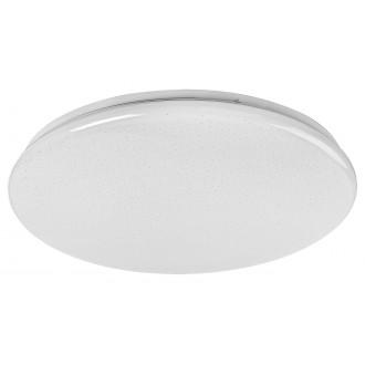 RABALUX 5448 | Danny Rabalux stropné svietidlo kruhový diaľkový ovládač regulovateľná intenzita svetla, nastaviteľná farebná teplota, časový spínač 1x LED 6400lm 3000 <-> 6500K biela, lesklé