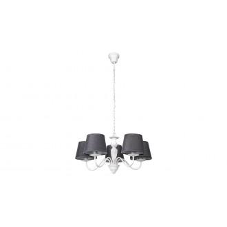 RABALUX 5480 | Flavio-RA Rabalux luster svietidlo 5x E14 biela, sivé