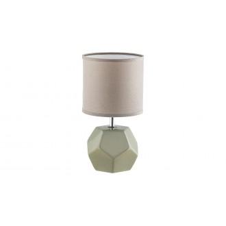 RABALUX 5509 | Galen-RA Rabalux stolové svietidlo 26cm prepínač 1x E14 sivé, chróm, biela