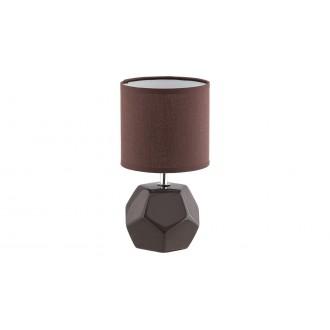 RABALUX 5510 | Galen-RA Rabalux stolové svietidlo 26cm prepínač 1x E14 hnedá, chróm, biela