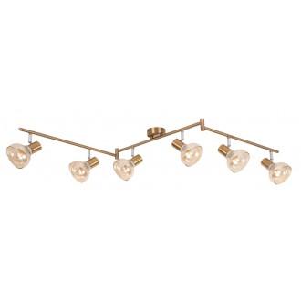 RABALUX 5553 | Holly-RA Rabalux spot svietidlo otočné prvky 6x E14 starožitná zlata, jantárové