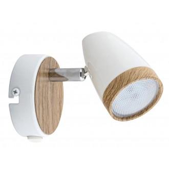 RABALUX 5564 | Karen Rabalux spot svietidlo prepínač otočné prvky 1x LED 280lm 3000K biela, bukové