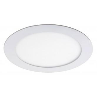 RABALUX 5570 | Lois Rabalux zabudovateľné LED panel kruhový Ø170mm 170x170mm 1x LED 800lm 4000K matný biely, biela