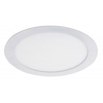 RABALUX 5571 | Lois Rabalux zabudovateľné LED panel kruhový Ø225mm 225x225mm 1x LED 1400lm 4000K matný biely, biela