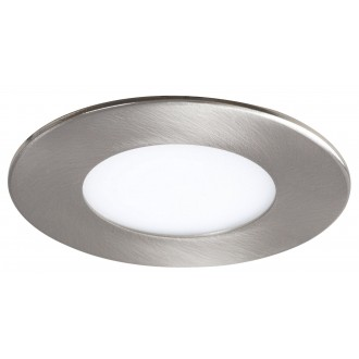 RABALUX 5572 | Lois Rabalux zabudovateľné LED panel kruhový Ø85mm 85x85mm 1x LED 170lm 3000K satén chróm, biela