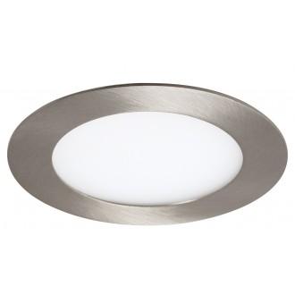 RABALUX 5573 | Lois Rabalux zabudovateľné LED panel kruhový Ø120mm 120x120mm 1x LED 350lm 3000K satén chróm, biela