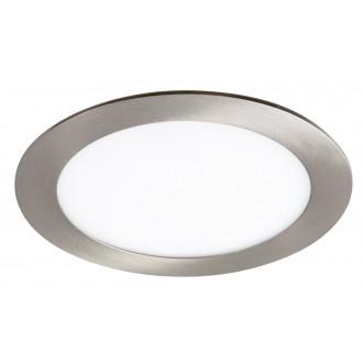 RABALUX 5574 | Lois Rabalux zabudovateľné LED panel kruhový Ø170mm 170x170mm 1x LED 800lm 3000K satén chróm, biela