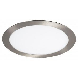 RABALUX 5575 | Lois Rabalux zabudovateľné LED panel kruhový Ø225mm 225x225mm 1x LED 1400lm 3000K satén chróm, biela