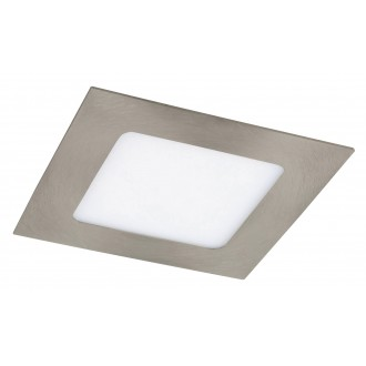 RABALUX 5581 | Lois Rabalux zabudovateľné LED panel štvorec 120x120mm 1x LED 350lm 3000K satén chróm, biela