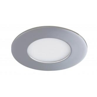 RABALUX 5584 | Lois Rabalux zabudovateľné LED panel kruhový Ø90mm 90x90mm 1x LED 170lm 4000K IP44 chróm, biela