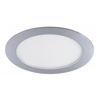 RABALUX 5585 | Lois Rabalux zabudovateľné LED panel kruhový Ø170mm 170x170mm 1x LED 800lm 4000K IP44 chróm, biela