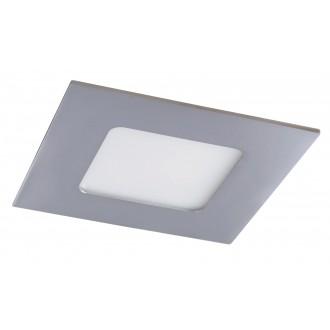 RABALUX 5586 | Lois Rabalux zabudovateľné LED panel štvorec 90x90mm 1x LED 170lm 4000K IP44 chróm, biela