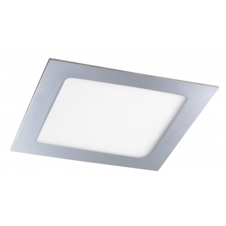 RABALUX 5587 | Lois Rabalux zabudovateľné LED panel štvorec 170x170mm 1x LED 800lm 4000K IP44 chróm, biela