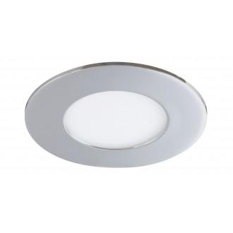 RABALUX 5588 | Lois Rabalux zabudovateľné LED panel kruhový Ø90mm 90x90mm 1x LED 170lm 3000K IP44 chróm, biela