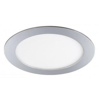 RABALUX 5589 | Lois Rabalux zabudovateľné LED panel kruhový Ø170mm 170x170mm 1x LED 800lm 3000K IP44 chróm, biela