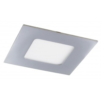 RABALUX 5590 | Lois Rabalux zabudovateľné LED panel štvorec 90x90mm 1x LED 170lm 3000K IP44 chróm, biela