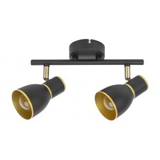 RABALUX 5606 | Mackenzie Rabalux spot svietidlo otočné prvky 2x E14 čierna, zlatý