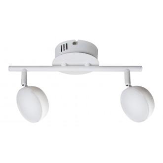 RABALUX 5623 | Hedwig Rabalux spot svietidlo diaľkový ovládač regulovateľná intenzita svetla, nastaviteľná farebná teplota, otočné prvky 2x LED 700lm 2700 <-> 5000K matný biely